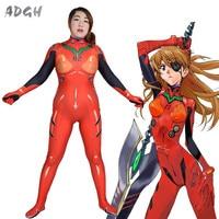 Asuka Langley Soryu Cosplay Costume Anime Neon Genesis Evangelion Fullbody Zentai Suit Sexy Women Jumpsuit Long