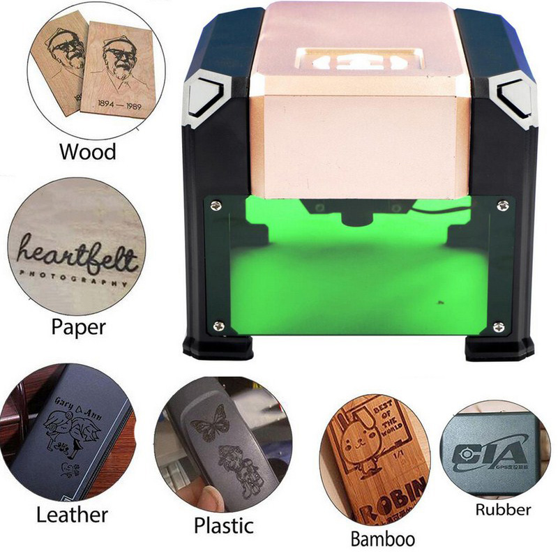 3000MW Mini Laser Engraving Machine Wood Router Laser Cutter DIY Print Lettering Machine Custom Logo 80*80mm Big Working Area3000MW Mini Laser Engraving Machine Wood Router Laser Cutter DIY Print Lettering Machine Custom Logo 80*80mm Big Working Area
