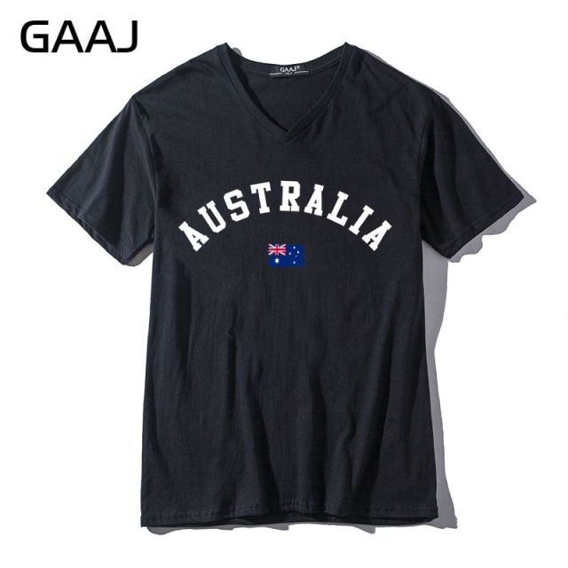 Australia Flag Men & Women Unisex T Shirts Male V Neck High ...