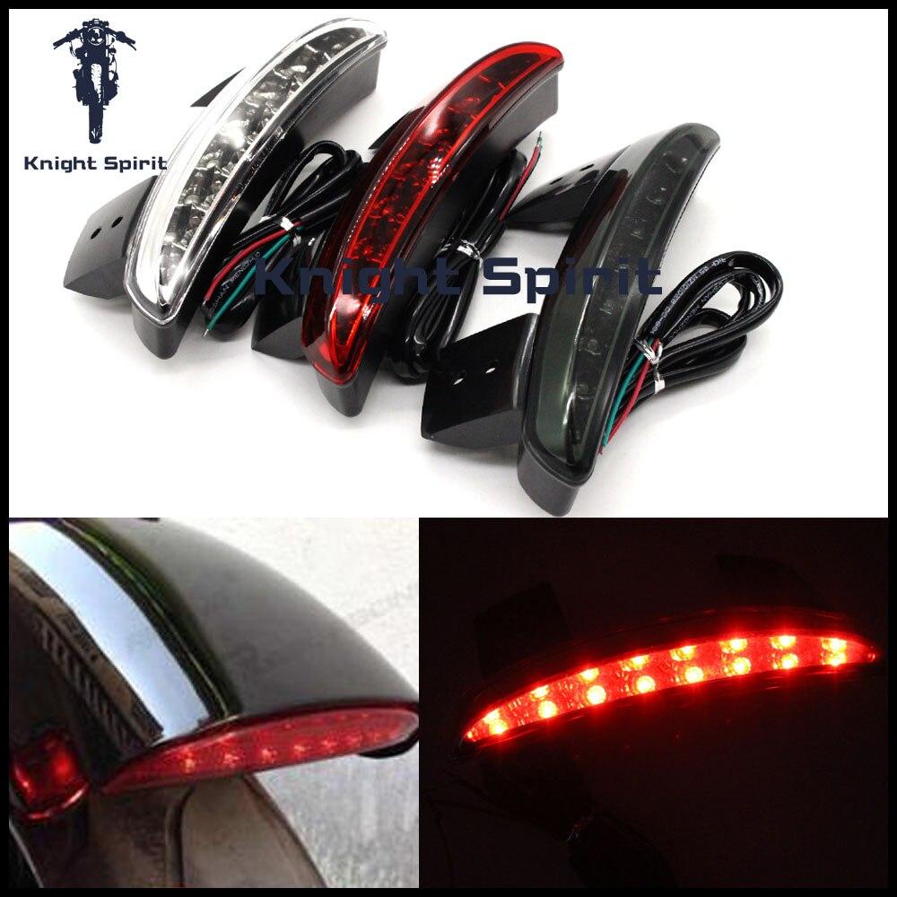Para Harley Davidson XL1200N 07-11/Hierro XL883N 09-15/X48 14-15 LED de la motocicleta luz trasera de freno Luz de señal de giro intermitente