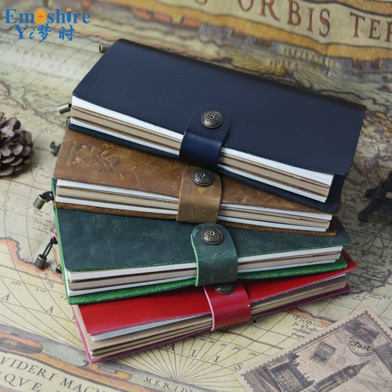 New Arrival Business Custom Logo Leather Hand Note Book Retro Travel Notepad Note Book Simple Diary for Travel N138 new creative retro leather strap notebook travel notepad loose leaf diary book customized logo for business meeting gifts n086