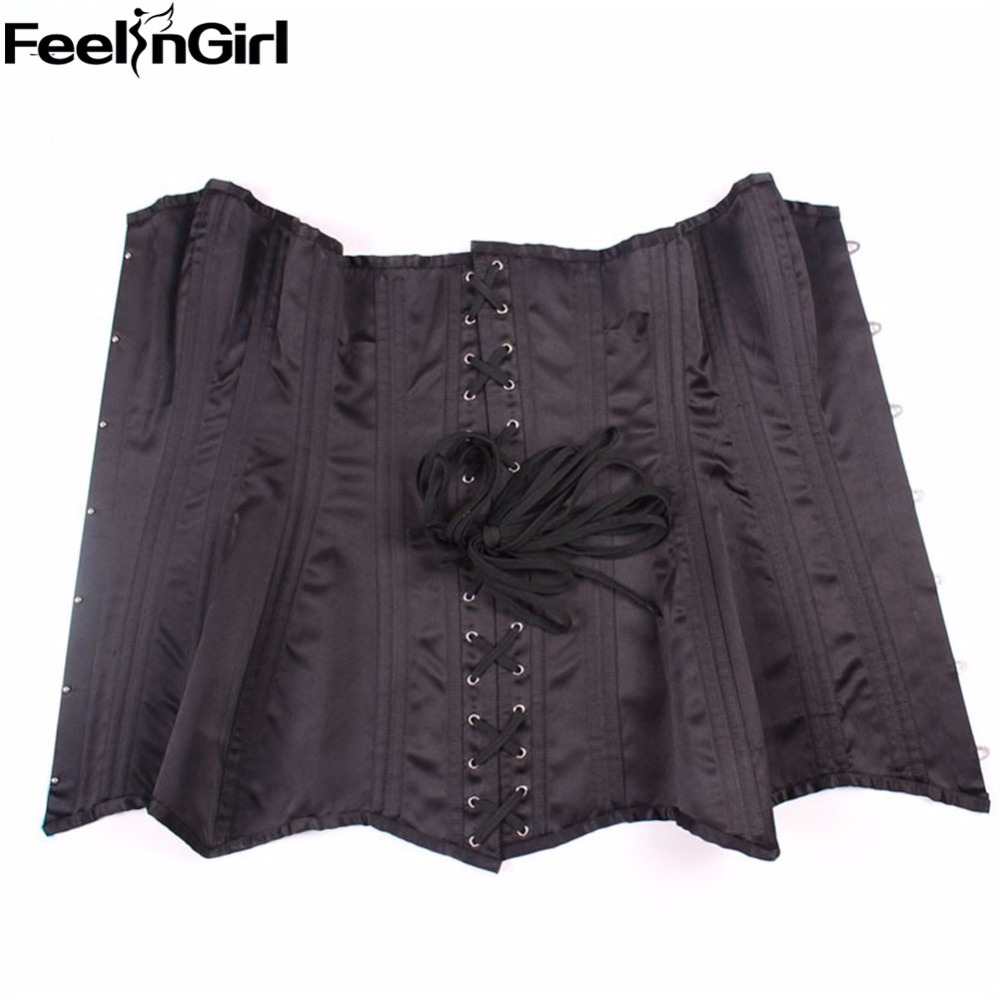 88436e3ec1 20 New double steel bone corset steampunk waist trainer corsets for women  long line body shaper waist cincher corselets B-in Bustiers   Corsets from  ...
