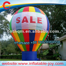 free air shipping,4-8mH outdoor  inflatable ground floor ball/giant advertise air balloon decoration for events