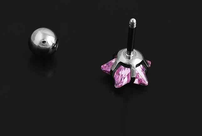 2 pc 3 ~ 8mm Sụn Bông Tai Sao Zircon Stud Bông Tai Sụn Vành Helix Piercing Thép Không Gỉ Bông Tai bạc đối với Phụ Nữ