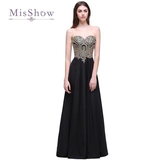 Aliexpress.com : Buy 2017 New Cheap Black A Line Evening Dresses ...