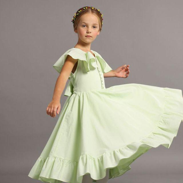 Us 99 53 Exclusive Custom Kids Girls Summer Cotton Clothing Baby Girls Short Sleeve Plaid Dress Girls Long Dress Wedding Guest Dresses In Dresses