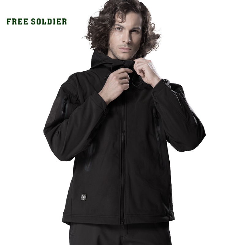 Clothing Shell-Jacket Free-Soldier Coat Outwear Soft Outdoor Waterproof Camping Instant