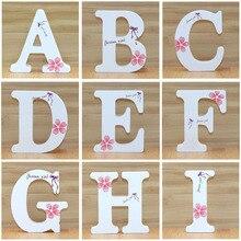 1 шт. 10 см английские деревянные буквы декоративные белые бабочки Алфавит украшения ремесла деревянные буквы надписи Свадебные цифры DIY