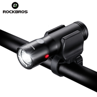 ROCKBROS Hiking Light Power Bank Waterproof USB Rechargeable Bike Light Side Warning Camping Flashlight 700 Lumen 18650 2000mAh