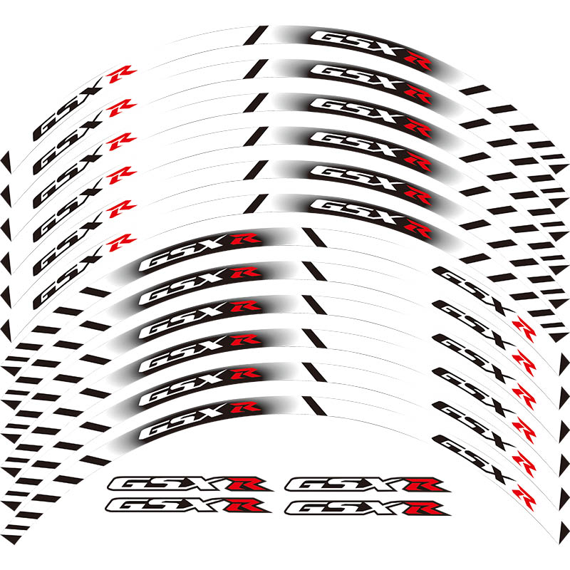 For all SUZUKI GSXR 250 400 600 1000 750 GSXR1000R GSXR1000 GSXR600 750 12 X Thick Edge Outer Rim Sticker Stripe Wheel Decals(China)