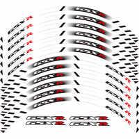 Für alle SUZUKI GSXR 250 400 600 1000 750 GSXR1000R GSXR1000 GSXR600 750 12 X Dicke Kante Äußere Rim Aufkleber streifen Rad Aufkleber