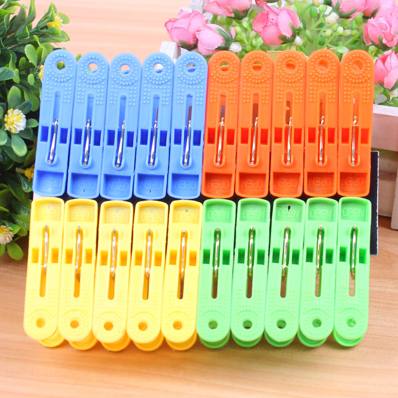 20Pcs/Lot Laundry Clothes Pins Color Hanging Pegs Clips Heavy Duty Clothes Pegs Plastic Hangers Racks Clothespins yl45