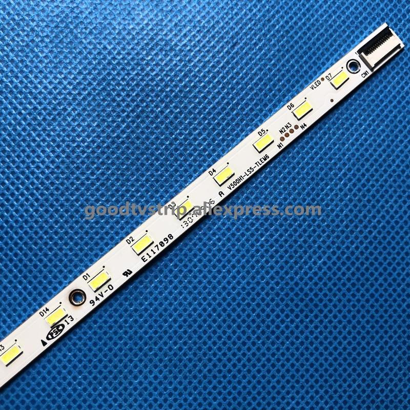 Image 3 - 2 PCS LED strip V500H1 LS5 TLEM6 TLEM4 TREM6 TREM4 E117098 28 LEDs 315mm for LE50D8800 V500HJ1 LE1,used part-in LED Bar Lights from Lights & Lighting