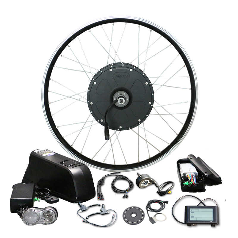 "48V  Electric Bicycle 1000W Conversion Kit for 26"" Motor Wheel with 16AH LG Bottle Battery LCD900 volo electrique parts"