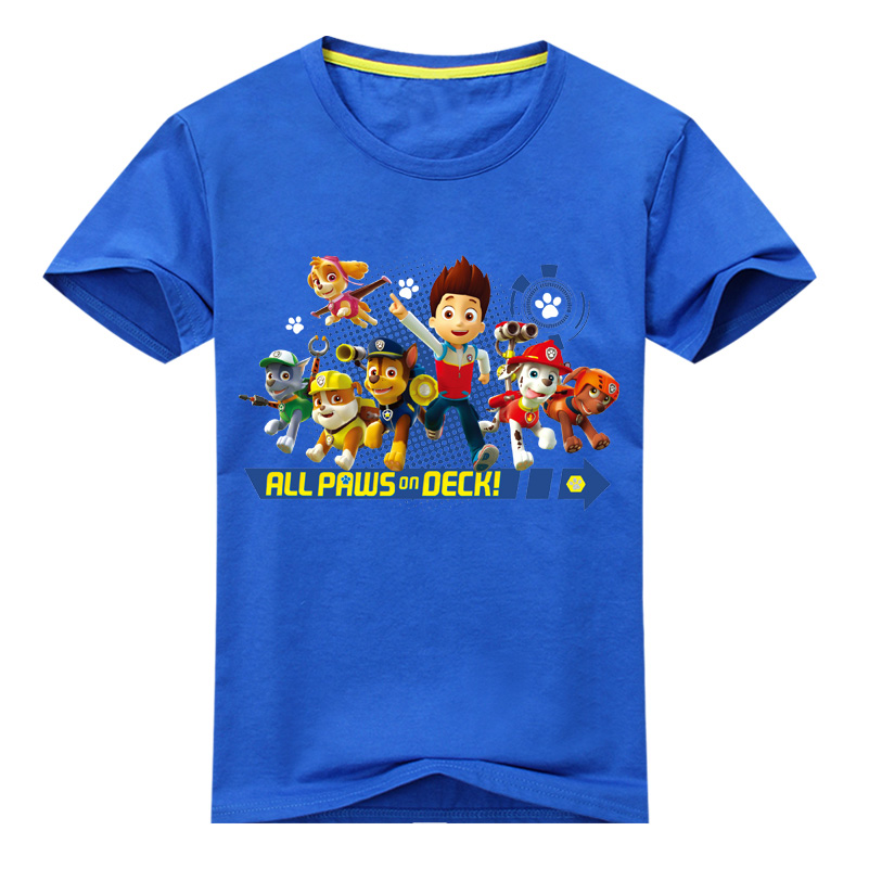 Boy Girls New Cartoon Dog Print T-shirt Children Tee Tops Baby Summer Clothes Kids Short Sleeve Costume Baby Tshirt 2017 GL009