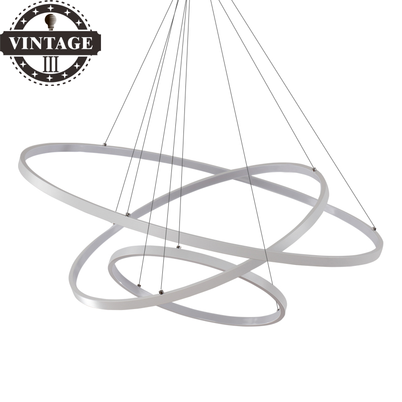 New Modern Circle Rings LED Simple Pendant Lights For Dining room Living Room Lustre Pendant Lamp Hanging Ceiling Fixtures modern led simple pendant lights for living room cristal lustre square pendant lamp hanging ceiling fixtures zdd0070