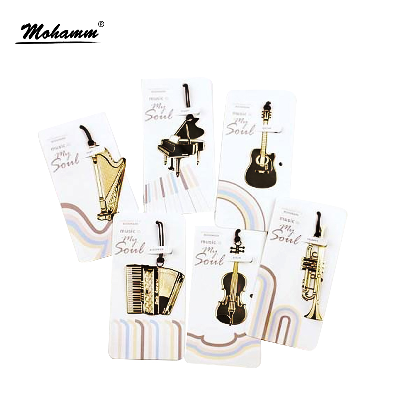 Cute Kawaii Musical Instruments Metal Bookmark For Books Mark Paper Clip Children School Office Supplies For Student Gift стоимость