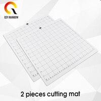 Esteira adesiva transparente da esteira de corte da substituição com grade de medição 12x12 Polegada esteira de corte para a máquina do plotter da silhueta|Esteiras de corte| |  -