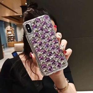 Image 5 - Étui De Téléphone Pour Xiaomi 10 9 MAX3 5X 6X Redmi 5 6 7 4A 6A 8A Note 4X 5A 7 6 8T 8 Pro LUXE strass Paillettes Housse En Cristal