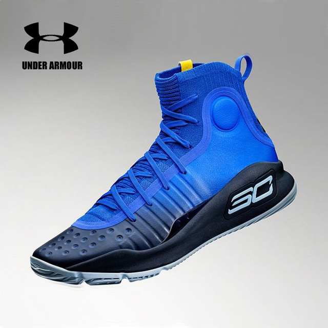 b7fe64f1f Under Armour men Curry 4 Basketball Sneakers high top Training Boot Outdoor  Unique Socks Design stephen
