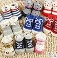 5 Pares/lote New born meias-meias antiderrapantes meias meias bebê dos desenhos animados do bebê crianças da menina do menino meias infantis meias bebe menina parágrafo