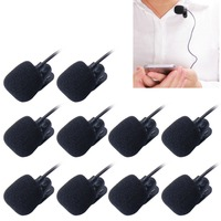 10 PCS Car Audio Microphone 3.5mm Jack Plug Mic Stereo Mini Wired External Clip Microphone Player for Auto DVD Radio