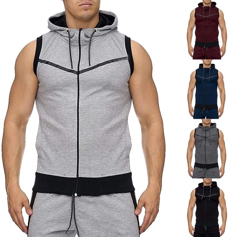 Gastfreundlich Calofe 2019 Männer Mit Kapuze Jacke Mode Marke Männlichen Ärmellose Jacke Zipper Tasche Gilet Casual Baumwolle Männliche Weste Plus Größe Jacken & Mäntel