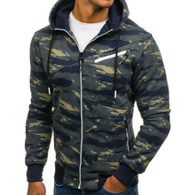 ZOGAA New Mens Fashion Camouflage Hoodies Men Slim Zipper Hooded Jackets Harajuku Casual Outwear Sportswear