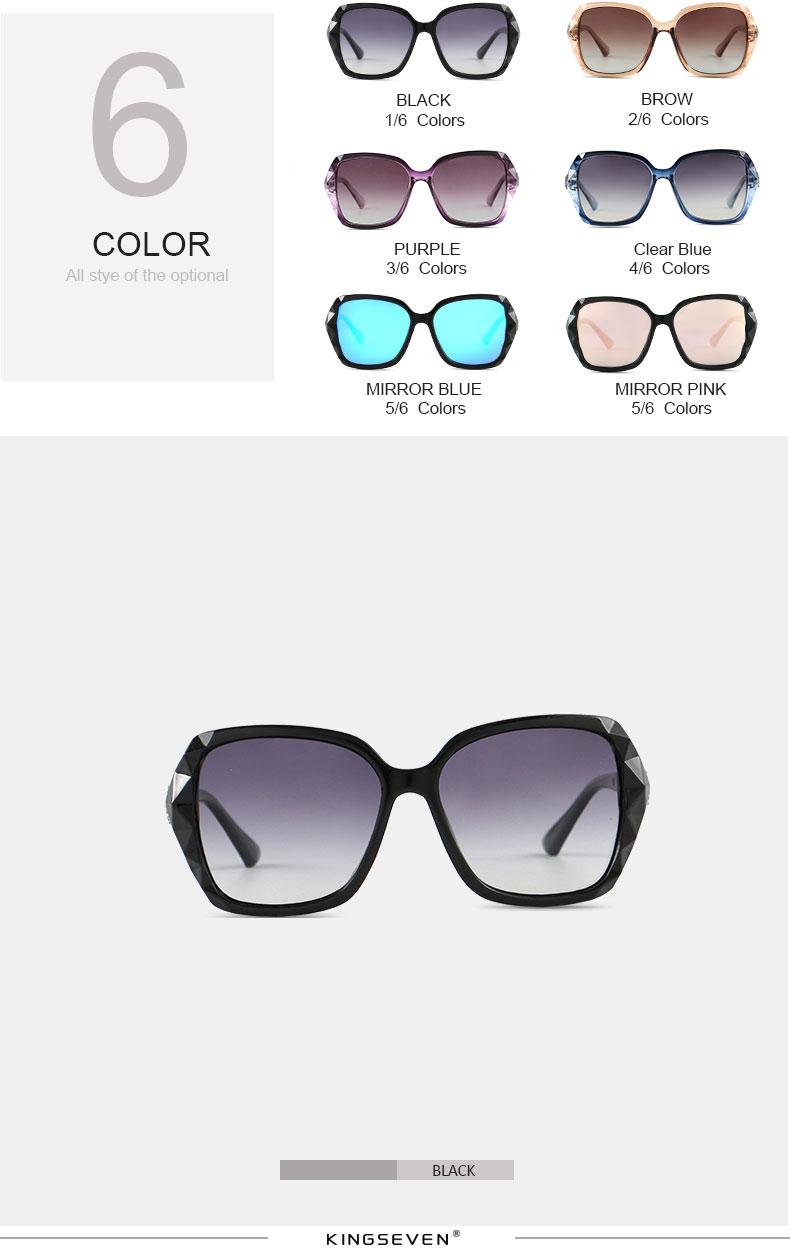 KINGSEVEN Sunglasses Women Gradient Polarized Diamond Frame Sun Glasses For Driving Luxury Lady Shades Eyewear Accessories 7538 3