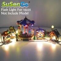 SuSenGo Led Flash Light Kit For 36010 Christmas Winter Village Market Building Block Bricks Toy 10235 Excluding Model