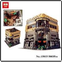 В наличии Лепин 15015 5003 шт. город улица динозавра музей модель здания Наборы блоки Кирпич совместимые детские игрушки подарок
