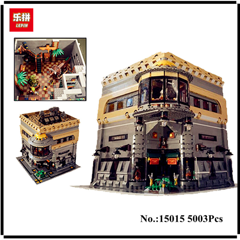 IN STOCK LEPIN 15015 5003Pcs City Street The Dinosaur Museum Model Building Kits Blocks Bricks Compatible Children Toys Gift lepin 15015 5003pcs street view series dinosaur museum model building blocks set bricks toys for children wange gift