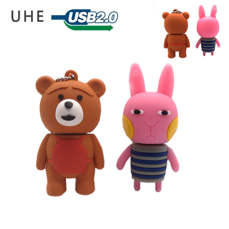 USB stick pendrive cartoon rabbit usb flash drive 4GB 8GB 16GB 32GB 64GB cute bear baby memory stick creative gift pen drive Price $4.40