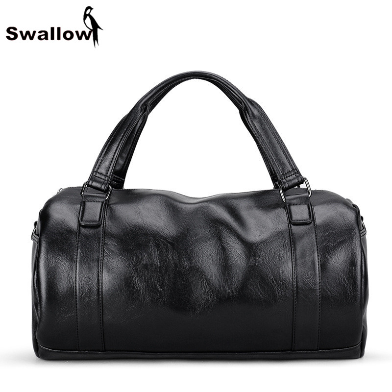 SWALLOW Split Leather Travel Luggage Bag Large Capacity Multifunctional Weeken Men's Handbag Crossbody Bag For Men Casual Tote high quality authentic famous polo golf double clothing bag men travel golf shoes bag custom handbag large capacity45 26 34 cm