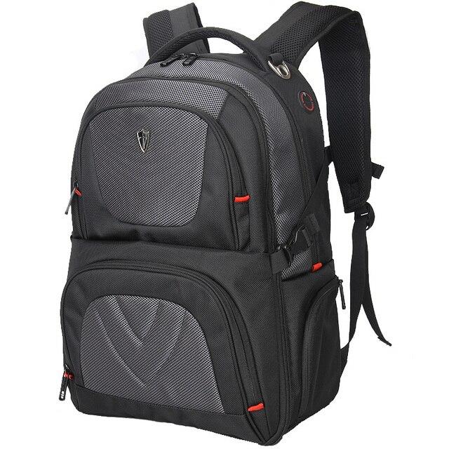 VICTORIATOURIST 17 pulgadas ballistic nylon laptop backpack hombres/de gran capacidad mochila/mochilas V9002 antirrobo negro