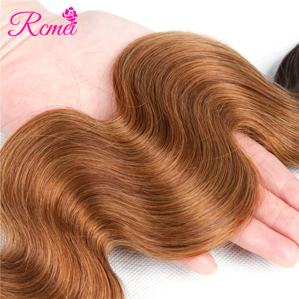 Ombre Honey Blonde Brown Wine Red Colored Bundles Two Tone Dark