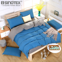 Pol Ester Fibre Sanding Solid Quilt Cover Bed Sheet Pillowcase Pillow Cover Bedding Set Decoration Bedroom