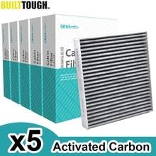 5x Car Pollen Cabin Filter Activated Carbon For Nissan Murano Z50 Teana J31 X trail T30 Peugeot 4008 Mitsubishi Lancer Outlander
