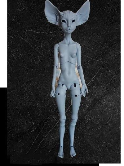 AQK (AQK) 1/4 BJD/poupée Quarterback Sphinx chat poupée monstre plante oreille gris Spot yeux libres