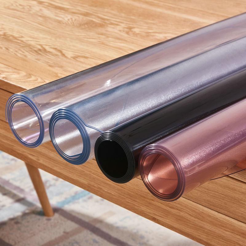 High Grade Transparent Soft Glass PVC Tablecloth Coffee