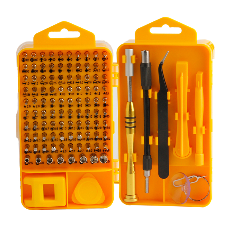 Juego de destornilladores de precisión EVANX 108 piezas Juego de brocas magnéticas de herramientas múltiples para herramientas de reparación de mantenimiento de computadoras portátiles para teléfonos celulares