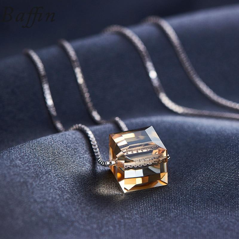 BAFFIN kristallid SWAROVSKI Cube helmestest Kaelakee ripatsid 925 - Mood ehteid - Foto 4