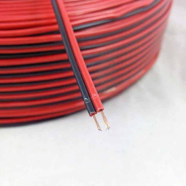 5 เมตร 2 สีแดงสีดำทองแดงสายฉนวน PVC ไฟฟ้าสายลำโพงลวด DIY สายเชื่อมต่อทองแดงรถ LED สาย