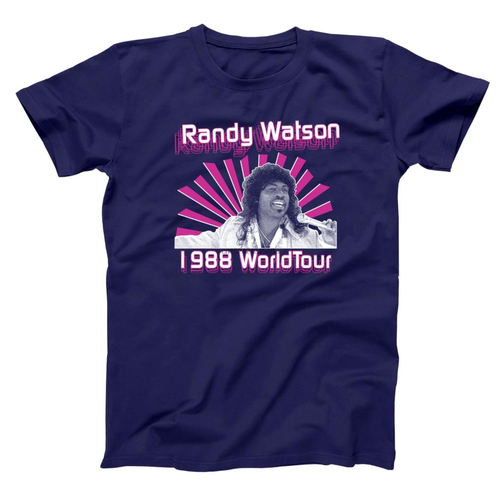 Buy Randy Watson 1988 World Tour Sexual Chocolate Band Jackson Heights Hilarious Comedy 80s Movie Humor Mens Shirt