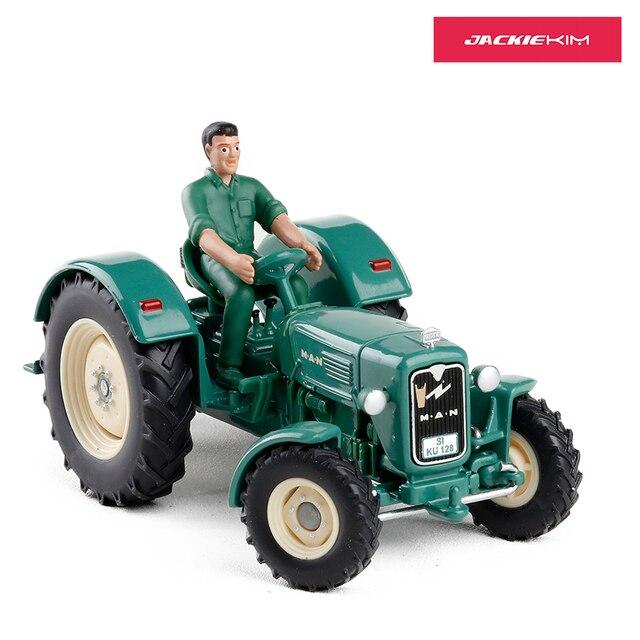 Skala 1:32 Berkualitas Tinggi Paduan Manusia 4R3 Traktor dengan Boneka Kendaraan Teknik Petani Mobil untuk Anak-anak Mainan Asli Kotak Bebas pengiriman