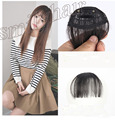 New Fashion Natural Thin Mini Bang Clip In  Hair Bangs Fringe Extensions Front Neat Bang Four Color Synthetic Hair For women