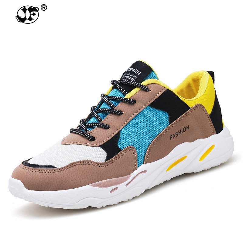 2018 Men Casual Shoes Autumn Lace-up Style waterproof Suede Black Gray Yellow Fashion Man Shoes 39-44