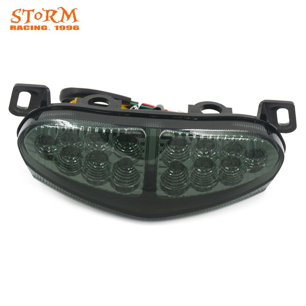 Motorcycle Black Rear Tail Light Brake Integrated LED Taillight For KAWASAKI ER6N ER-6N ER 6N ER6F ER-6F ER 6F 2009 2010 2011