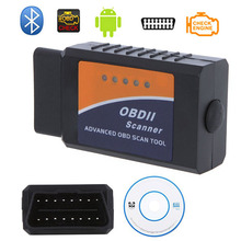 Professional Diagnostic Tool OBD2 OBD-II ELM327 ELM 327 V2.1  Bluetooth Car Diagnostic Interface Scanner Works On Android