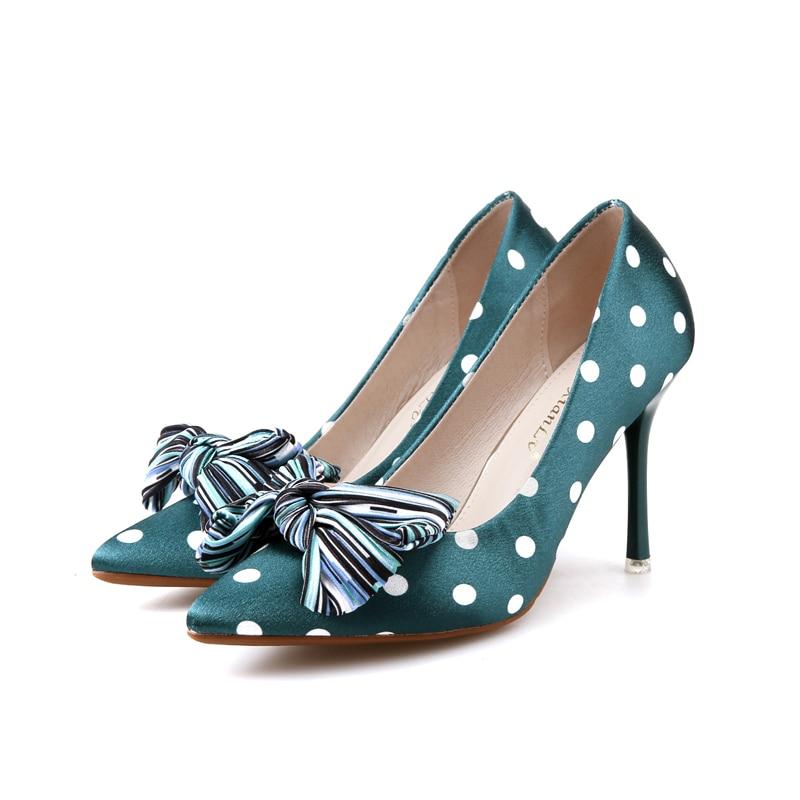 Cm De Stiletto Arco Moda Tacón 9 Mujer Novia Boda Tacones Altos Zapatos Verdes Alto Para q8Snwpd